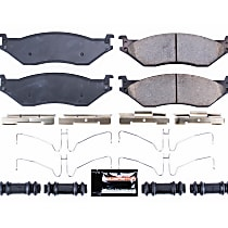 Power Stop® Z23-1066 Front OR Rear Z23 Daily Carbon-Fiber Ceramic Brake Pads with Stainless-Steel Hardware Kit