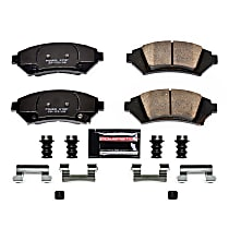 Z23-1076 Front Z23 Daily Carbon-Fiber Ceramic Brake Pads with Stainless-Steel Hardware Kit