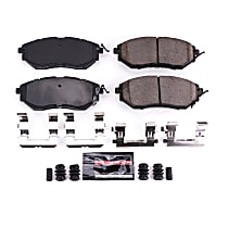 Power Stop® Z23-1078 Front Z23 Daily Carbon-Fiber Ceramic Brake Pads with Stainless-Steel Hardware Kit