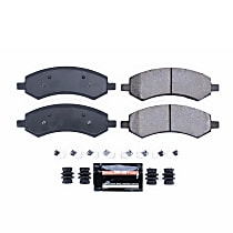 Power Stop® Z23-1084 Front Z23 Daily Carbon-Fiber Ceramic Brake Pads with Stainless-Steel Hardware Kit
