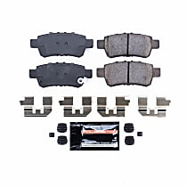 Power Stop® Z23-1088 Rear Z23 Daily Carbon-Fiber Ceramic Brake Pads with Stainless-Steel Hardware Kit