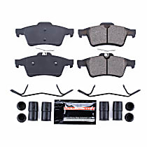 Power Stop® Z23-1095 Rear Z23 Daily Carbon-Fiber Ceramic Brake Pads with Stainless-Steel Hardware Kit