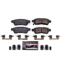 Z23-1100 Rear Z23 Daily Carbon-Fiber Ceramic Brake Pads with Stainless-Steel Hardware Kit