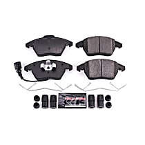 Power Stop® Z23-1107 Front Z23 Daily Carbon-Fiber Ceramic Brake Pads with Stainless-Steel Hardware Kit
