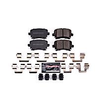Rear Z23 Daily Carbon-Fiber Ceramic Brake Pads with Stainless-Steel Hardware Kit