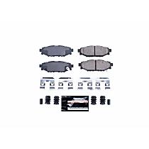 Power Stop® Z23-1114 Rear Z23 Daily Carbon-Fiber Ceramic Brake Pads with Stainless-Steel Hardware Kit