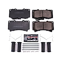 Power Stop® Z23-1119 Front Z23 Daily Carbon-Fiber Ceramic Brake Pads with Stainless-Steel Hardware Kit