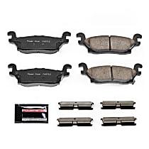 Z23-1120 Rear Z23 Daily Carbon-Fiber Ceramic Brake Pads with Stainless-Steel Hardware Kit