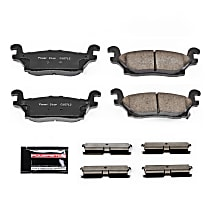 Power Stop® Z23-1120 Rear Z23 Daily Carbon-Fiber Ceramic Brake Pads with Stainless-Steel Hardware Kit