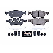 Power Stop® Z23-1123 Front Z23 Daily Carbon-Fiber Ceramic Brake Pads with Stainless-Steel Hardware Kit