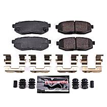 Power Stop® Z23-1124 Rear Z23 Daily Carbon-Fiber Ceramic Brake Pads with Stainless-Steel Hardware Kit