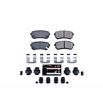 Powerstop Rear Brake Pad Set - Z23 Evolution Sport Carbon-Fiber Performance 2-Wheel Set, Carbon Fiber Ceramic