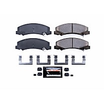 Power Stop® Z23-1159 Front Z23 Daily Carbon-Fiber Ceramic Brake Pads with Stainless-Steel Hardware Kit