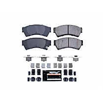 Power Stop® Z23-1164 Front Z23 Daily Carbon-Fiber Ceramic Brake Pads with Stainless-Steel Hardware Kit