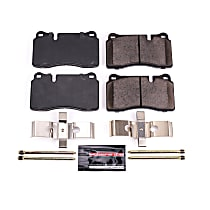 Power Stop® Z23-1165 Front OR Rear Z23 Daily Carbon-Fiber Ceramic Brake Pads with Stainless-Steel Hardware Kit