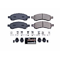 Power Stop® Z23-1169A Front Z23 Daily Carbon-Fiber Ceramic Brake Pads with Stainless-Steel Hardware Kit
