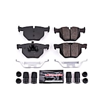 Z23-1170 Rear Z23 Daily Carbon-Fiber Ceramic Brake Pads with Stainless-Steel Hardware Kit