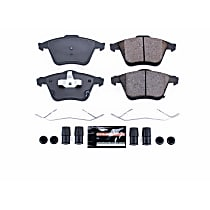 Power Stop® Z23-1186 Front Z23 Daily Carbon-Fiber Ceramic Brake Pads with Stainless-Steel Hardware Kit