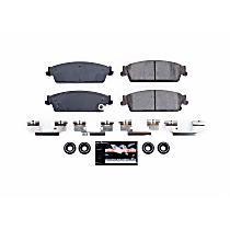 Powerstop Rear Brake Pad Set - Z23 Evolution Sport Carbon-Fiber Performance 2-Wheel Set, Carbon Fiber Metallic