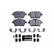 Power Stop® Z23-1204 Front Z23 Daily Carbon-Fiber Ceramic Brake Pads with Stainless-Steel Hardware Kit