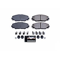 Power Stop® Z23-1211 Front Z23 Daily Carbon-Fiber Ceramic Brake Pads with Stainless-Steel Hardware Kit