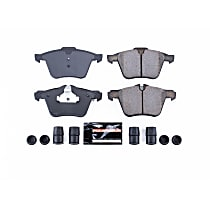 Power Stop® Z23-1240 Front Z23 Daily Carbon-Fiber Ceramic Brake Pads with Stainless-Steel Hardware Kit