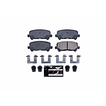 Z23-1281 Rear Z23 Daily Carbon-Fiber Ceramic Brake Pads with Stainless-Steel Hardware Kit