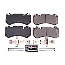 Power Stop® Z23-1291 Front Z23 Daily Carbon-Fiber Ceramic Brake Pads with Stainless-Steel Hardware Kit