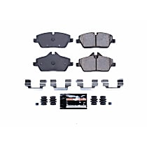 Power Stop® Z23-1308 Front Z23 Daily Carbon-Fiber Ceramic Brake Pads with Stainless-Steel Hardware Kit