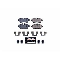 Z23-1309 Rear Z23 Daily Carbon-Fiber Ceramic Brake Pads with Stainless-Steel Hardware Kit