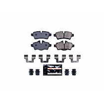 Power Stop® Z23-1309 Rear Z23 Daily Carbon-Fiber Ceramic Brake Pads with Stainless-Steel Hardware Kit
