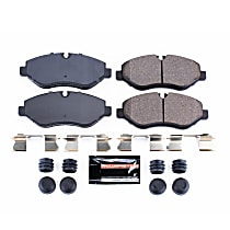 Z23-1316 Front Z23 Daily Carbon-Fiber Ceramic Brake Pads with Stainless-Steel Hardware Kit