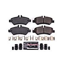Z23-1317 Rear Z23 Daily Carbon-Fiber Ceramic Brake Pads with Stainless-Steel Hardware Kit