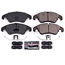 Z23-1322 Front Z23 Daily Carbon-Fiber Ceramic Brake Pads with Stainless-Steel Hardware Kit