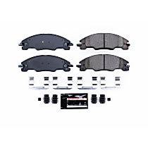 Z23-1339 Front Z23 Daily Carbon-Fiber Ceramic Brake Pads with Stainless-Steel Hardware Kit