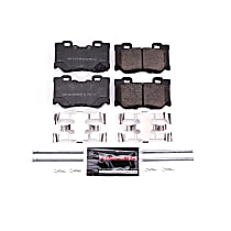 Power Stop® Z23-1347 Rear Z23 Daily Carbon-Fiber Ceramic Brake Pads with Stainless-Steel Hardware Kit