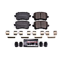 Z23-1348 Rear Z23 Daily Carbon-Fiber Ceramic Brake Pads with Stainless-Steel Hardware Kit