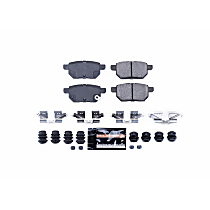 Power Stop® Z23-1354 Rear Z23 Daily Carbon-Fiber Ceramic Brake Pads with Stainless-Steel Hardware Kit