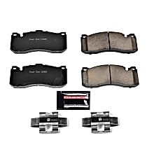 Z23-1371 Front Z23 Daily Carbon-Fiber Ceramic Brake Pads with Stainless-Steel Hardware Kit