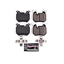 Z23-1372 Rear Z23 Daily Carbon-Fiber Ceramic Brake Pads with Stainless-Steel Hardware Kit