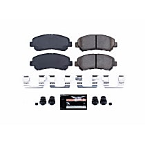 Power Stop® Z23-1374 Front Z23 Daily Carbon-Fiber Ceramic Brake Pads with Stainless-Steel Hardware Kit