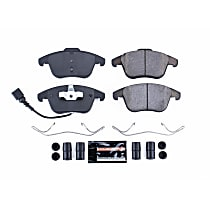 Z23-1375 Front Z23 Daily Carbon-Fiber Ceramic Brake Pads with Stainless-Steel Hardware Kit