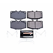 Power Stop® Z23-137 Front Z23 Daily Carbon-Fiber Ceramic Brake Pads with Stainless-Steel Hardware Kit