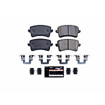 Z23-1386 Rear Z23 Daily Carbon-Fiber Ceramic Brake Pads with Stainless-Steel Hardware Kit