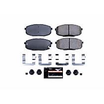 Powerstop Front Brake Pad Set - Z23 Evolution Sport Carbon-Fiber Performance 2-Wheel Set, Carbon Fiber Ceramic