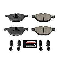 Z23-1409 Front Z23 Daily Carbon-Fiber Ceramic Brake Pads with Stainless-Steel Hardware Kit