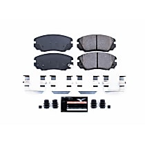 Z23-1421 Front Z23 Daily Carbon-Fiber Ceramic Brake Pads with Stainless-Steel Hardware Kit