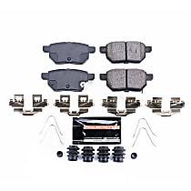 Power Stop® Z23-1423 Rear Z23 Daily Carbon-Fiber Ceramic Brake Pads with Stainless-Steel Hardware Kit