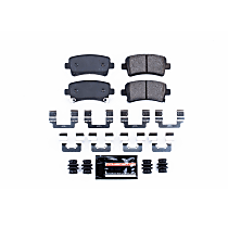 Z23-1430 Rear Z23 Daily Carbon-Fiber Ceramic Brake Pads with Stainless-Steel Hardware Kit