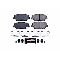 Power Stop® Z23-1432 Front Z23 Daily Carbon-Fiber Ceramic Brake Pads with Stainless-Steel Hardware Kit